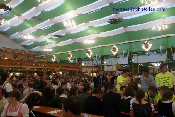 Oktoberfest inside tent Paulaner