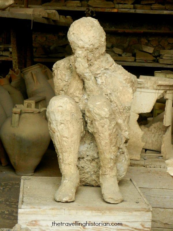 Plastercast of a victim of Pompeii