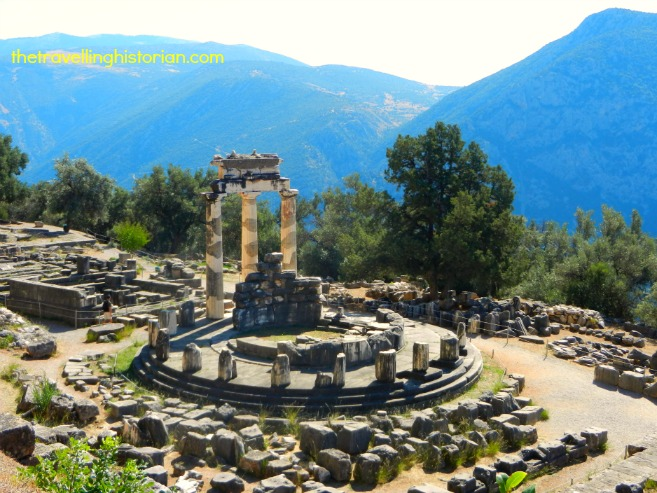 Athena Pronaia Sanctuary in Delphi, Greece