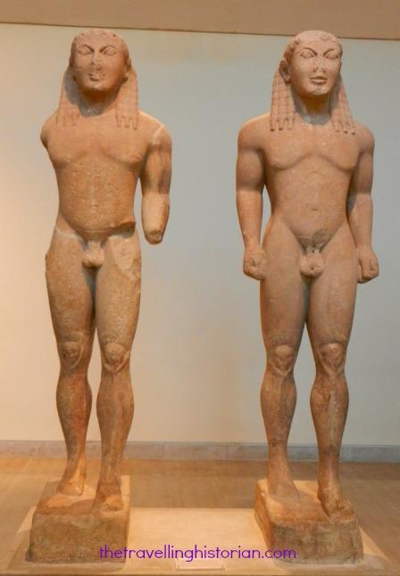 Delphi museum Kouroi 580 BC