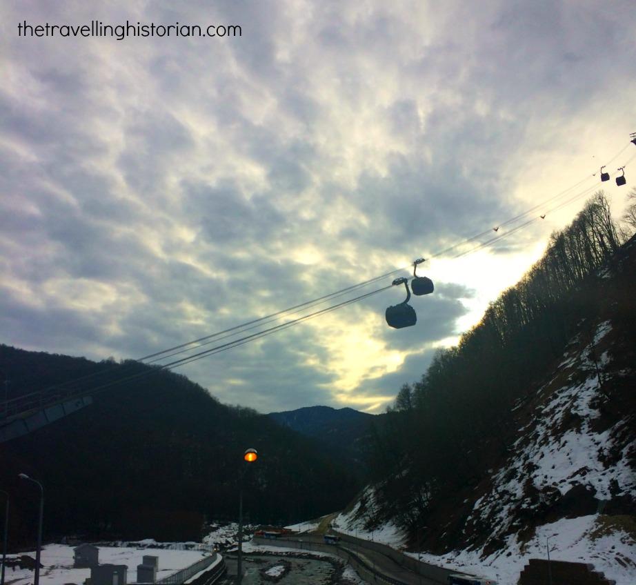 Gondola ride, Krasnaya Polyana, Alpine Skiing Sochi 2014
