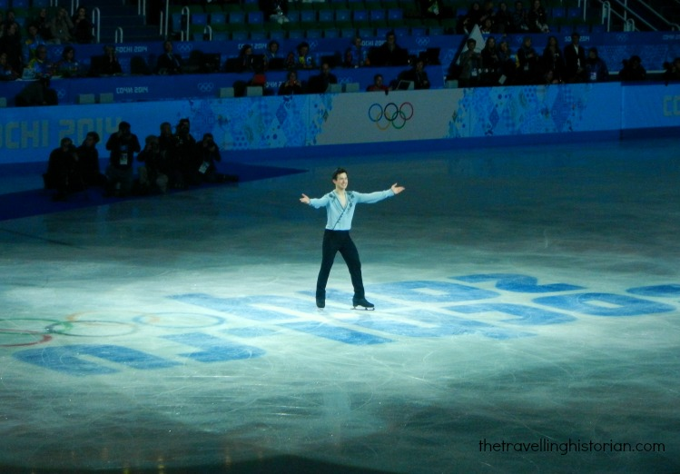 Patrick Chan flower ceremony in Sochi 2014