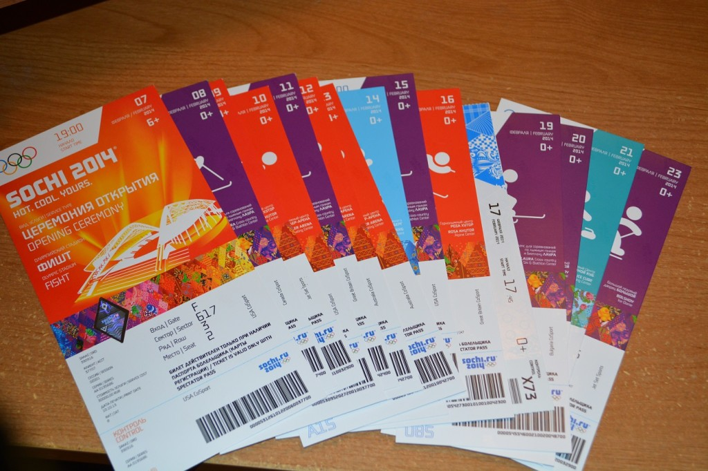 Sochi 2014 Olympic Ticket for Olympic Adventure