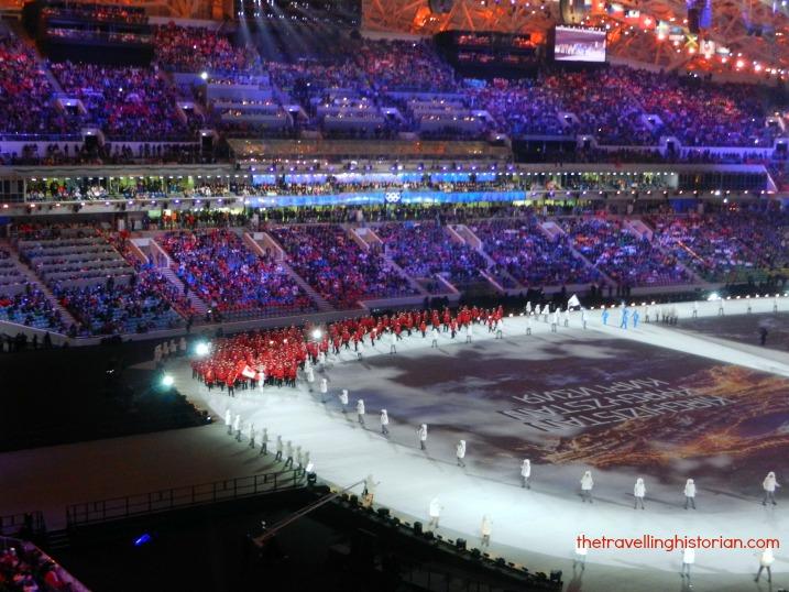 Team Canada, Opening Ceremony, Sochi Olympics