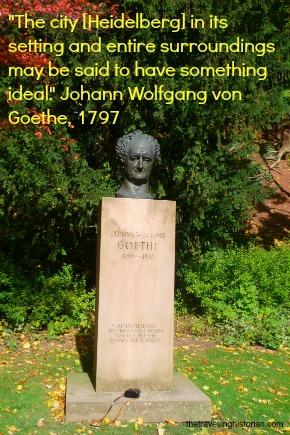 Heidelberg Castle - Statue of Goethe