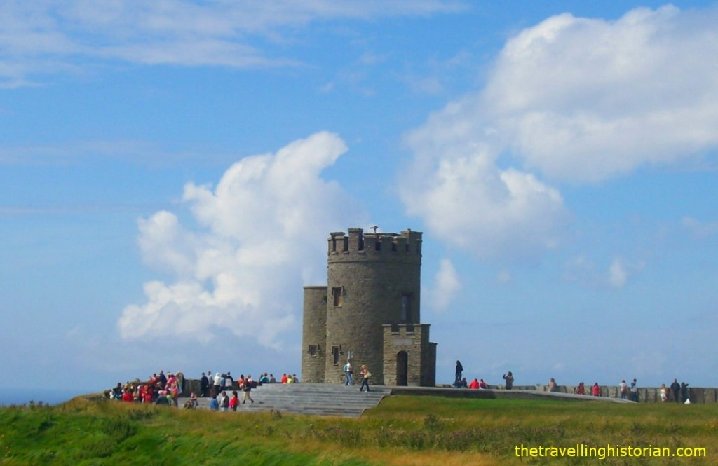 O'Brien's Tower at Cliffs of Moher Ireland